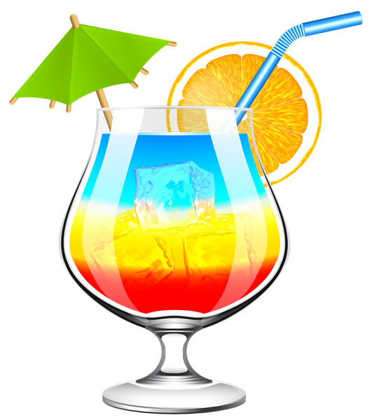 vector black and white Summer cocktail transparent png. Cocktails clipart