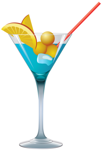 graphic freeuse stock Cocktails clipart. Blue cocktail png pinterest.