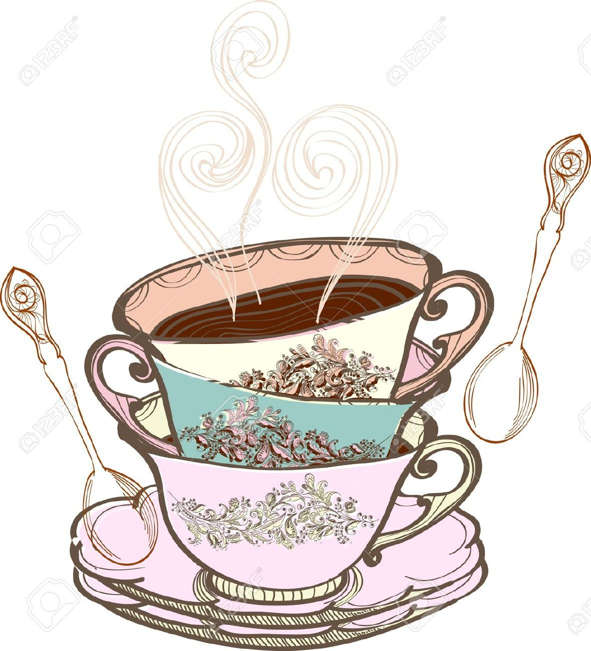 clip art free library Afternoon tea java jive. Teacup clipart free