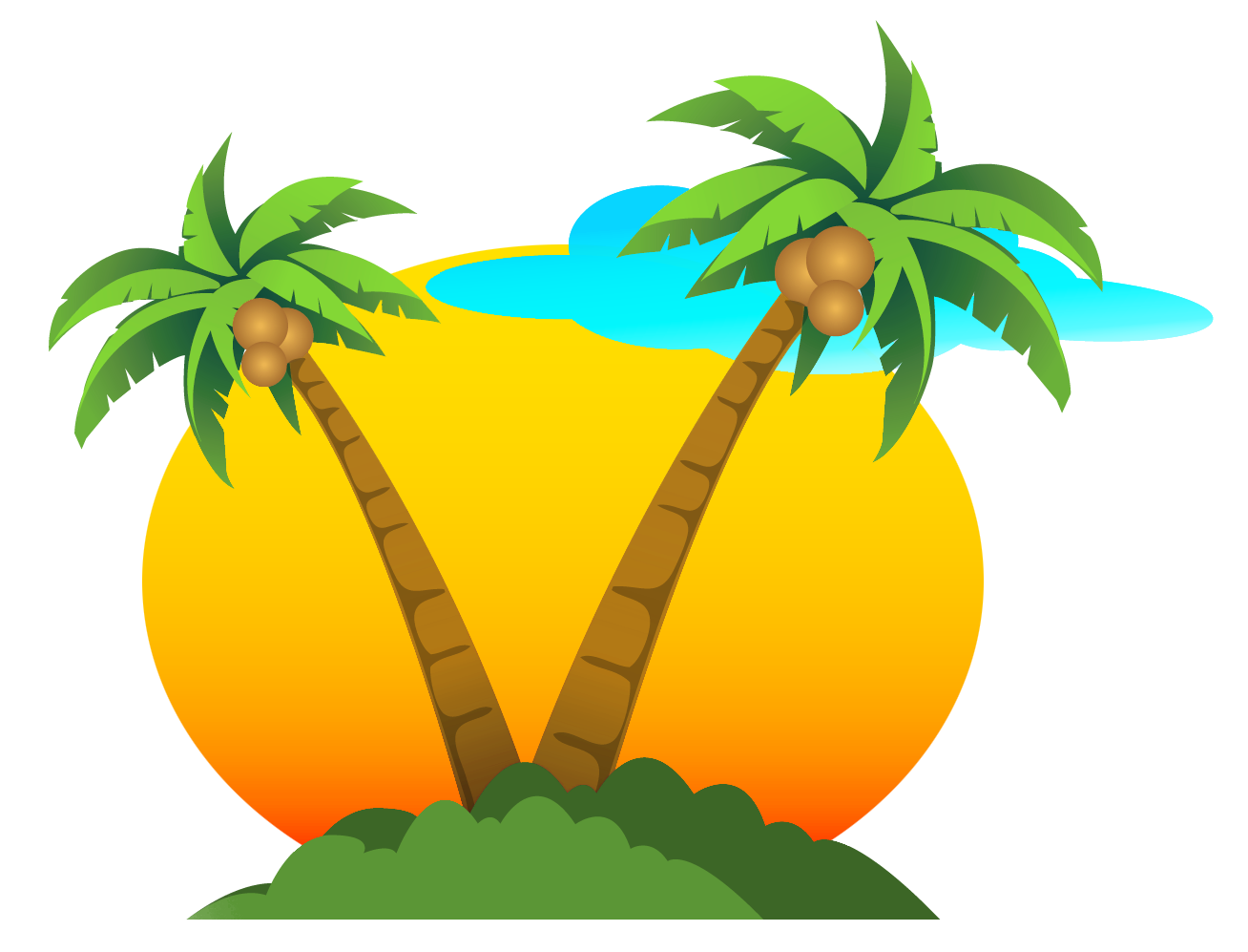 svg transparent library Palm clipart service. Coconut i m free