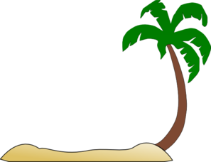 picture freeuse download Sunset clipart island vacation. Palm tree coconut panda