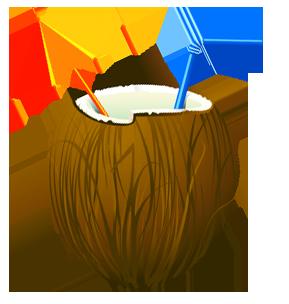 clipart Transparent Summer Coconut Cocktail PNG Clipar