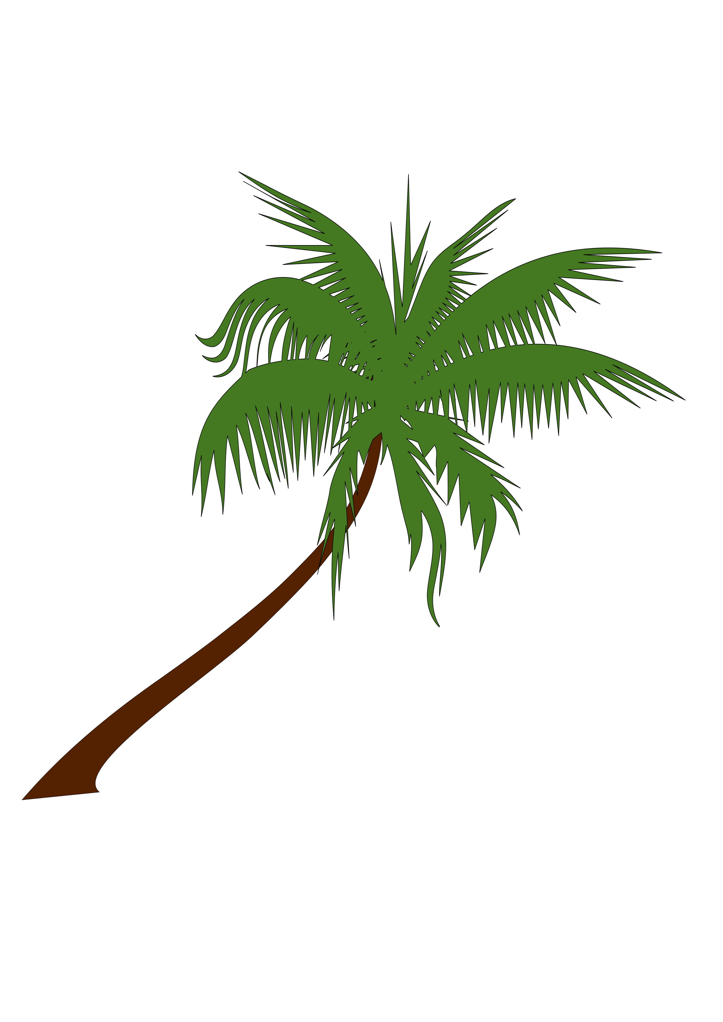 clipart black and white stock coconut tree clipart #61423123