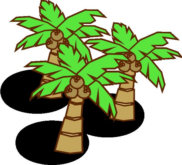 svg download Coconut Trees Clip Art at Clker