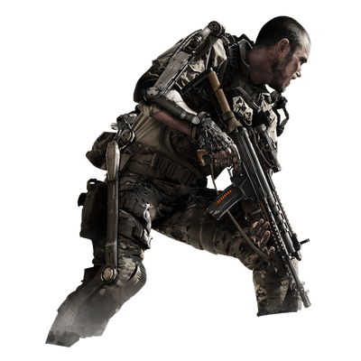 vector download Call Of Duty Soldier transparent PNG