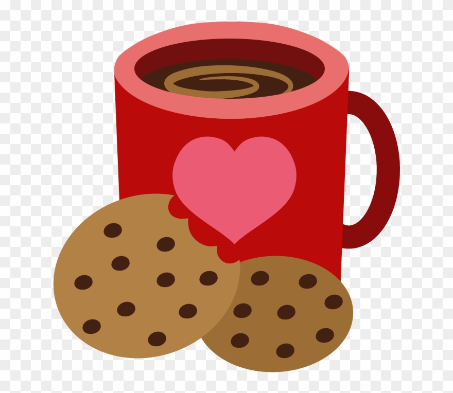 svg freeuse download Mug biscuit cookie cutie. Coffee and cookies clipart