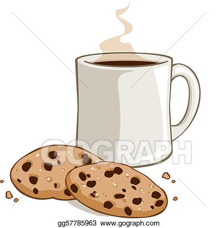 svg free Coffee and cookies clipart. Eps illustration cocoa vector