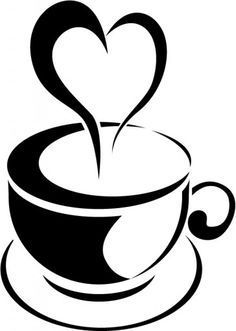 image black and white stock Pin by kylie broussard. Coffee clipart free.