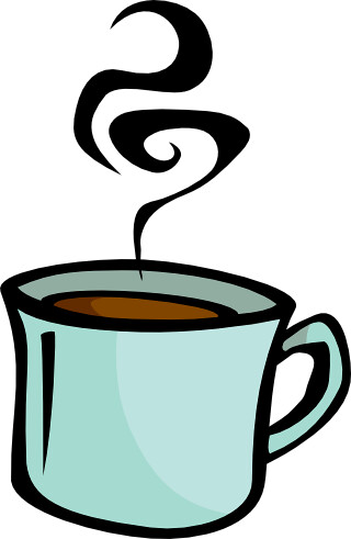 png free library Mug teal clip art. Coffee cup with steam clipart