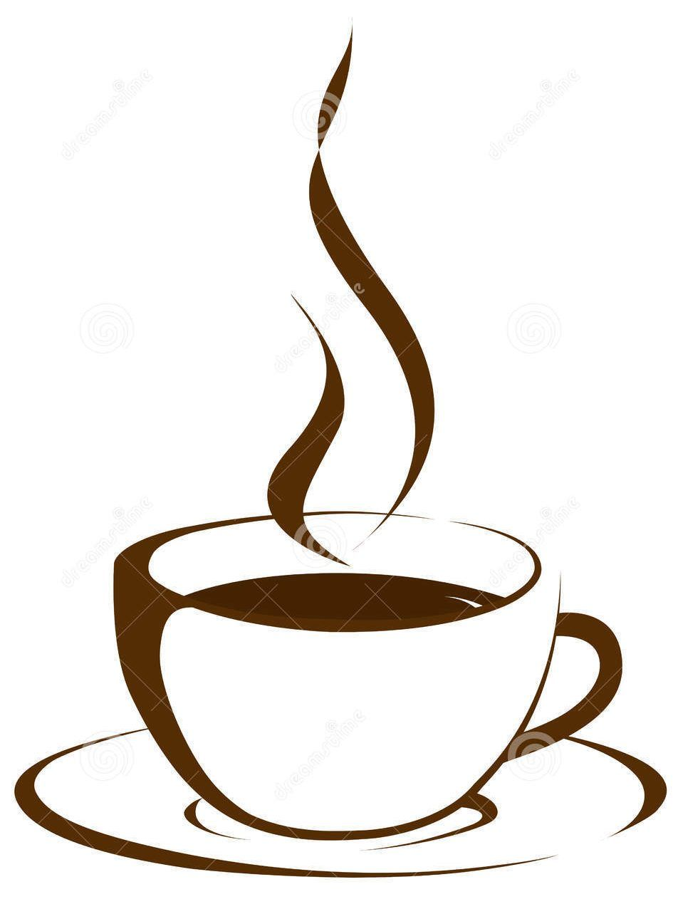 image download Coffee cup with steam clipart. Social media thoughts needle