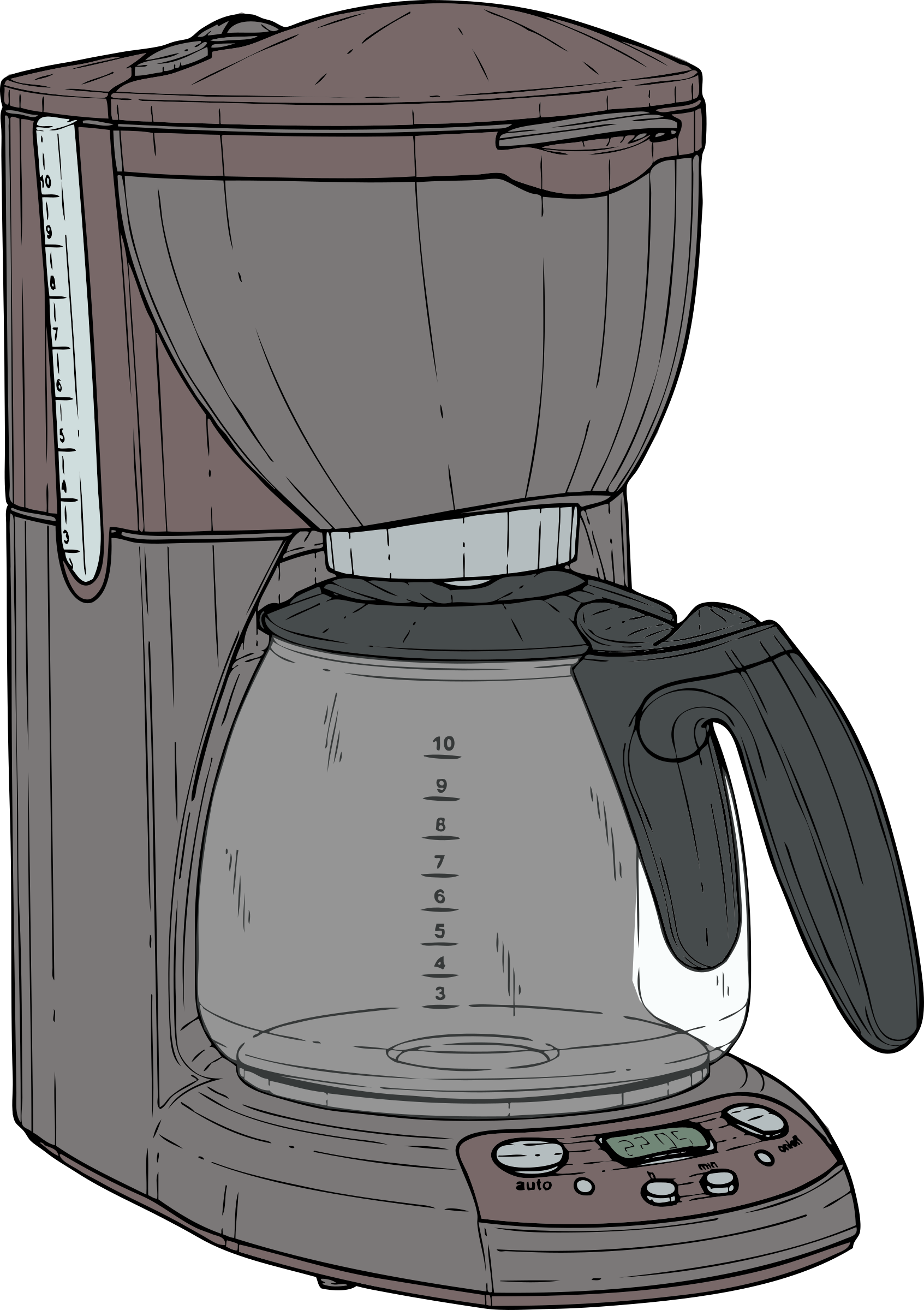 graphic library download Coffee maker clipart. Colour big image png