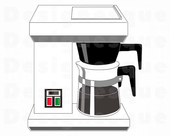 jpg transparent download Drip svg files for. Coffee maker clipart
