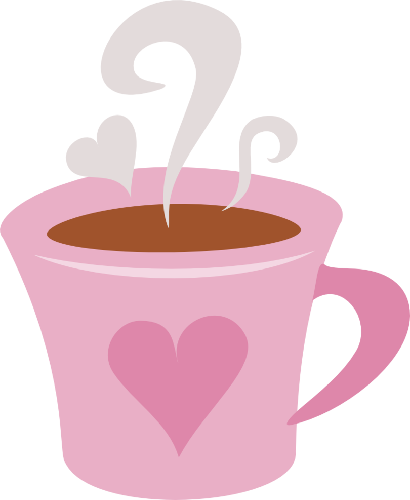 clipart royalty free Coffee mug with heart clipart. Cm by pietotheface pink