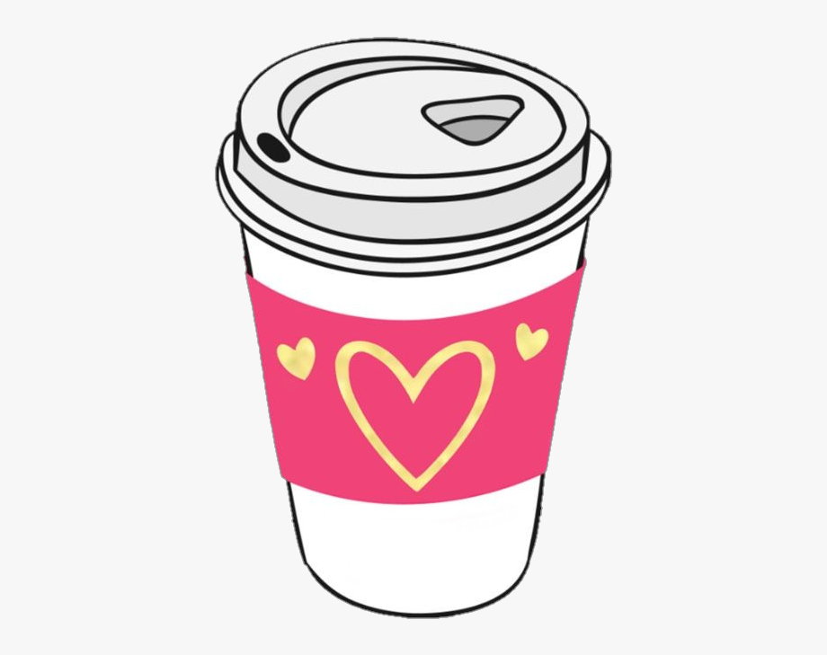 jpg black and white Coffee mug with heart clipart. Cup coffeecup hearts pink