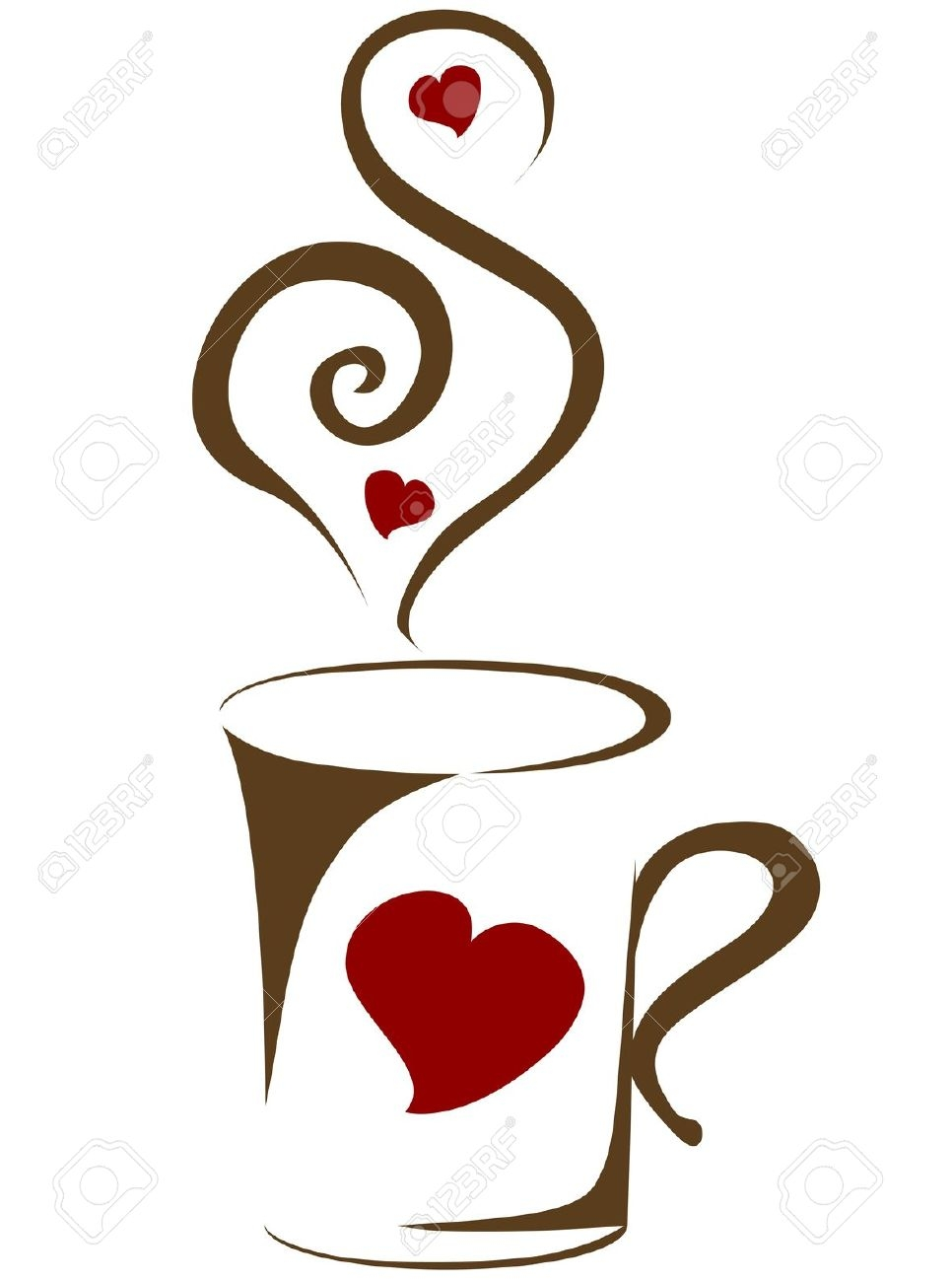 vector free library Clip art arts for. Coffee mug with heart clipart