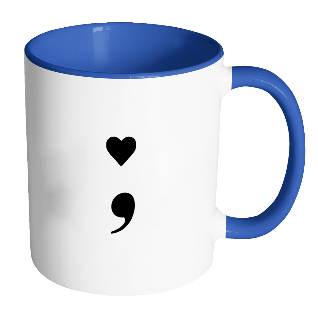 banner transparent library Coffee mug with heart clipart. Semicolon accent mental health