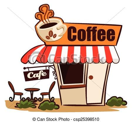 clip black and white library Illustrations and stock art. Coffee shop clipart free