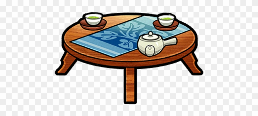 vector transparent Tea png download . Coffee table clipart