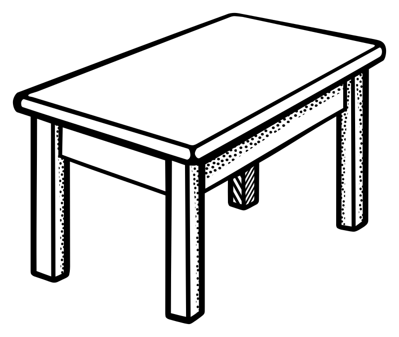 clipart black and white library Small drawing at getdrawings. Table black and white clipart