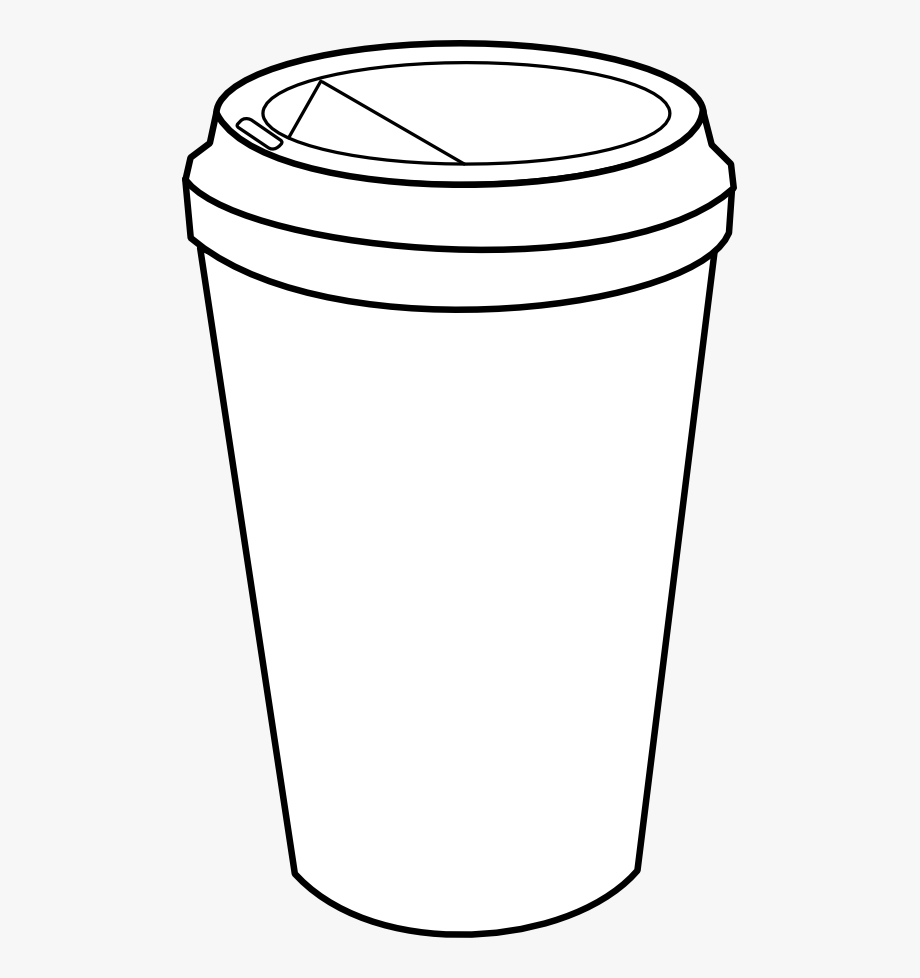 jpg freeuse stock Coffee to go clipart. Black and white cup