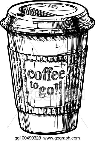 graphic free Vector art eps gg. Coffee to go clipart