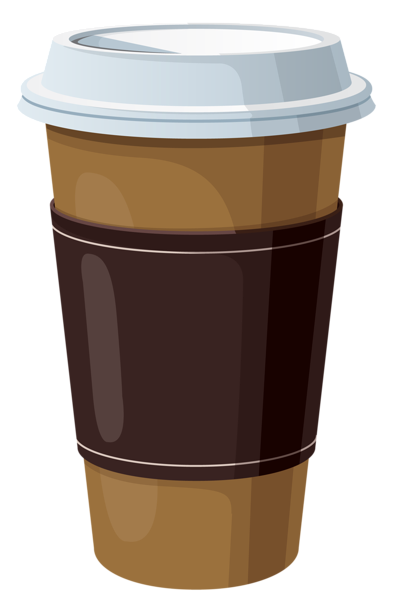 banner royalty free stock Coffee to go clipart. In plastic cup pinterest