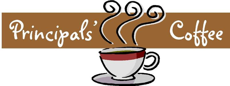 clip royalty free Session monday october tillicum. Coffee with the principal clipart