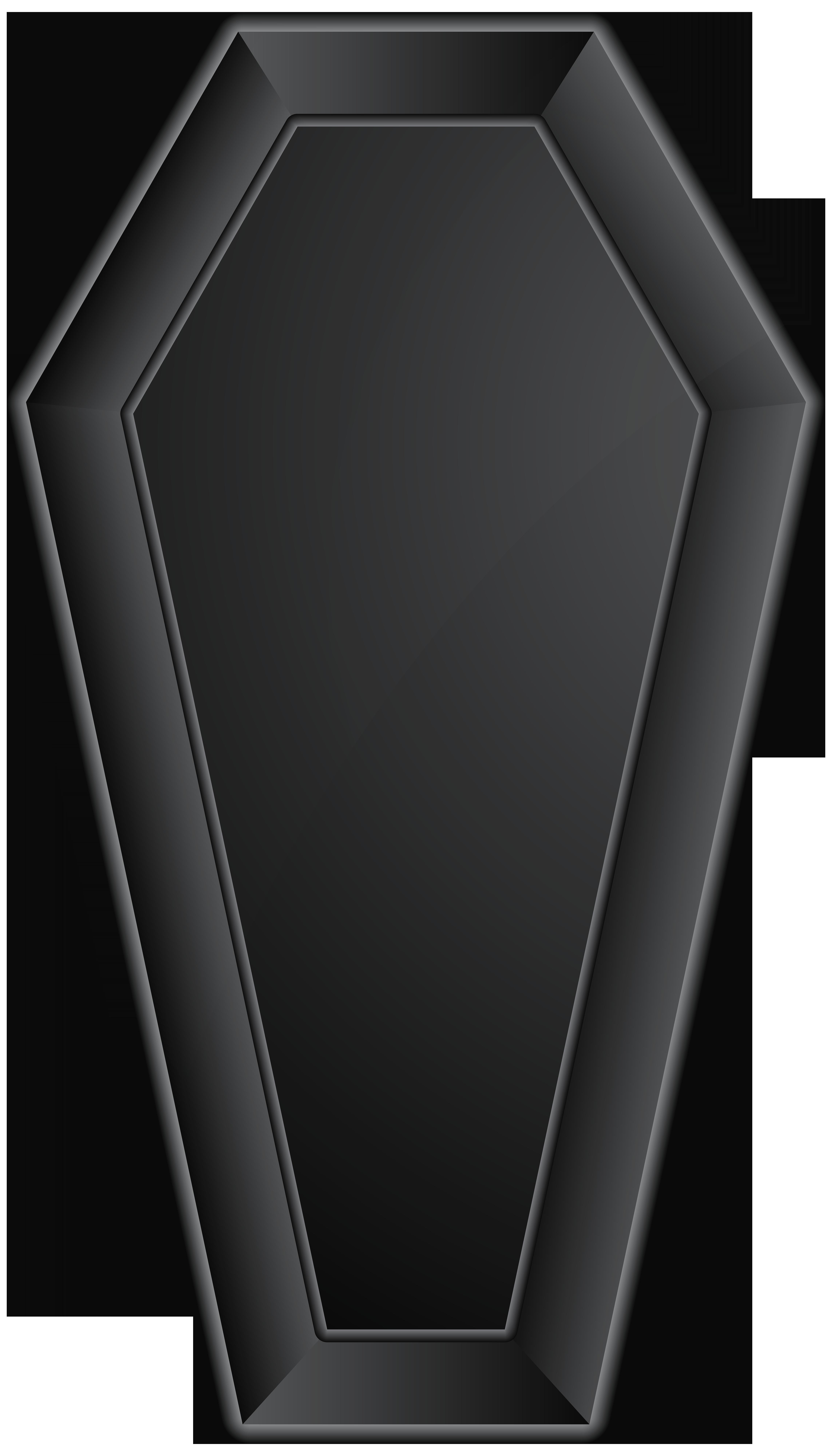 transparent Black png clip art. Coffin clipart