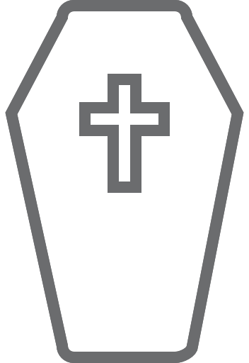 graphic transparent Coffin clipart cross. Icon free of outline.