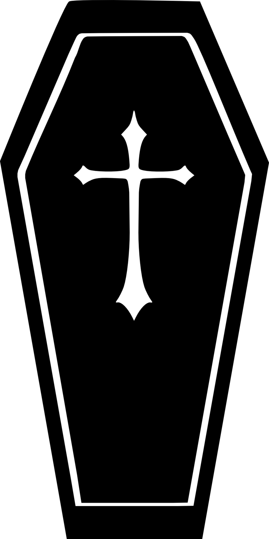 jpg royalty free Coffin clipart silhouette