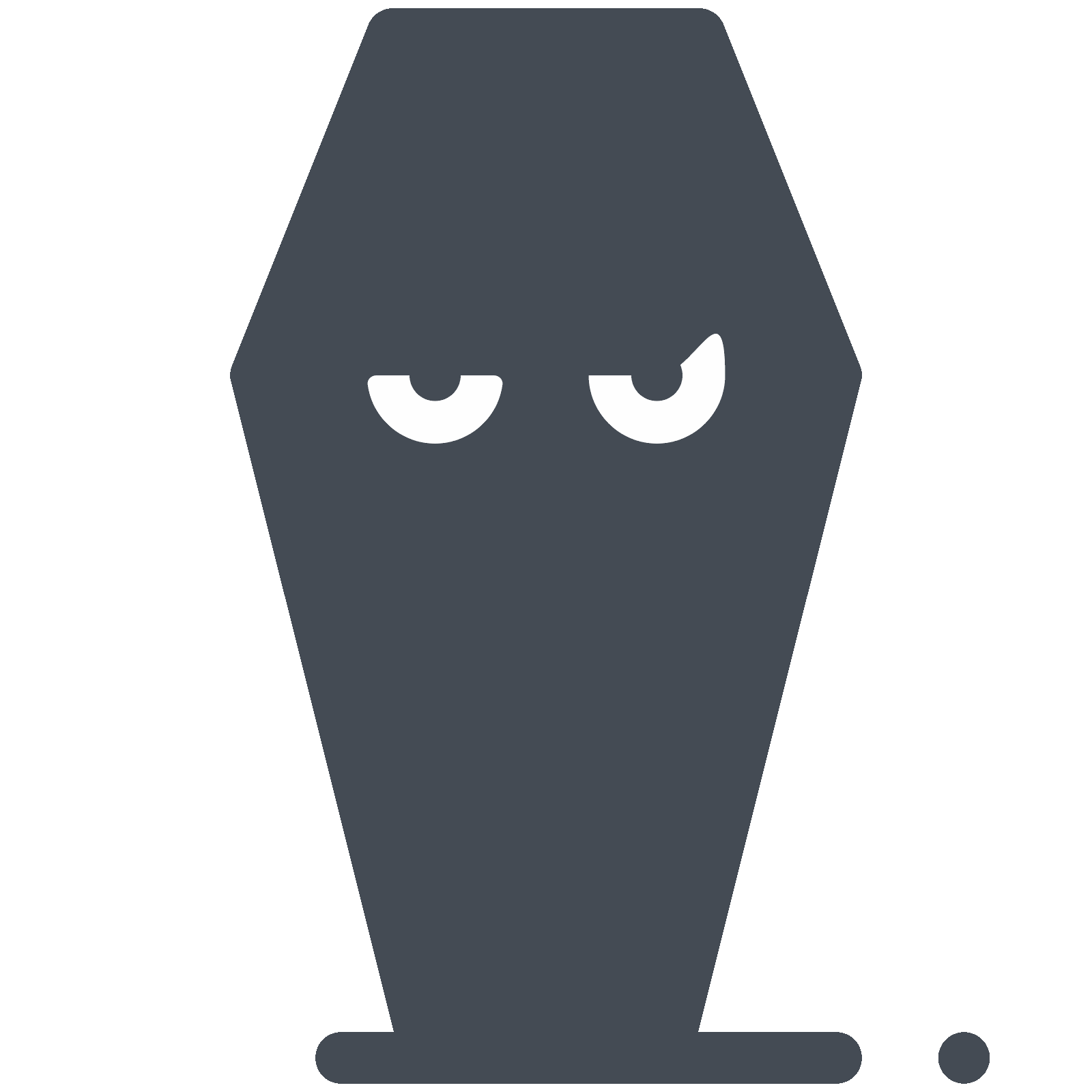 clipart black and white download Coffin Face Icon