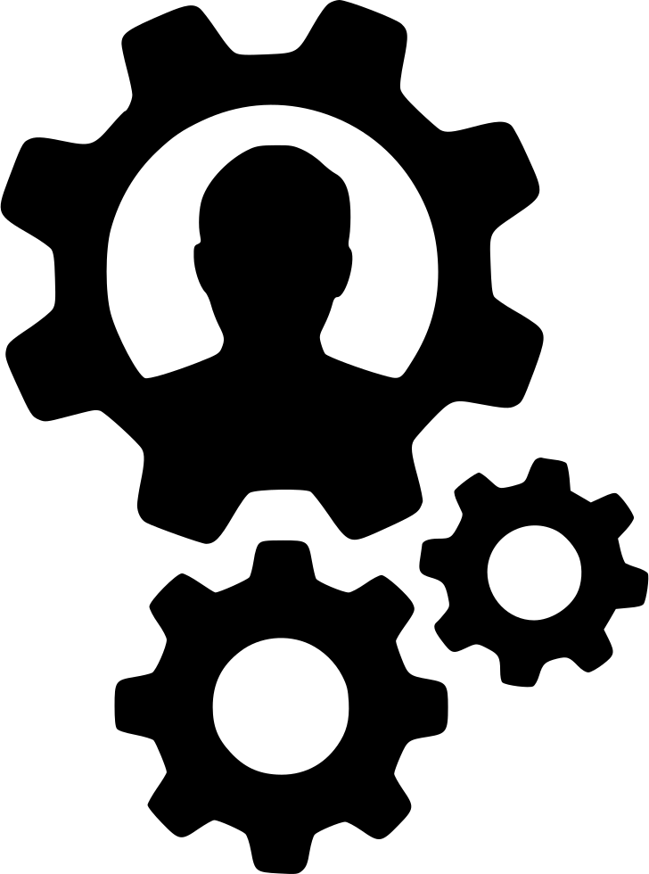 download Gears User Person Cogs Settings Configure Productivity Svg Png Icon