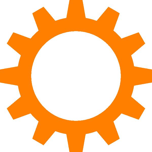 jpg black and white download Orange Cog Wheel Clip Art at Clker