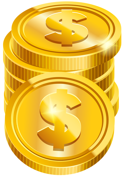 royalty free download Transparent png clip art. Coins clipart.