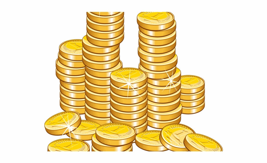 clip black and white stock Sack money gold coins. Coin clipart