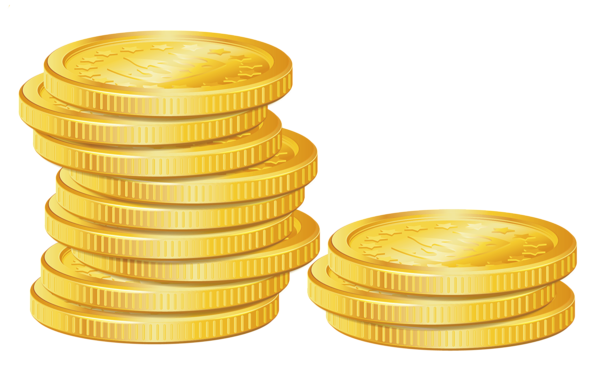 banner royalty free stock Pile of Coins PNG Picture