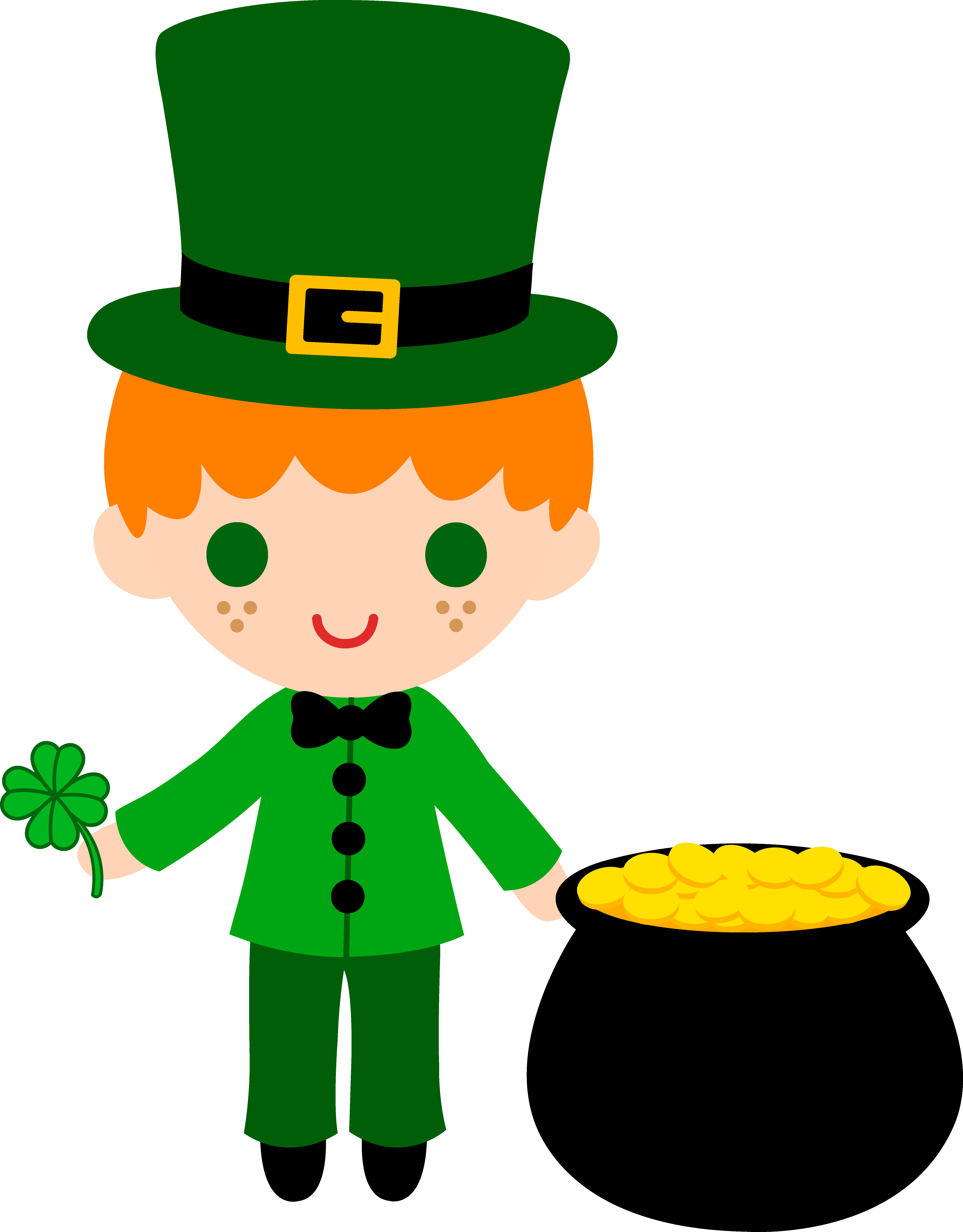 png freeuse download Maundy clipart boy. Leprechaun with pot of.