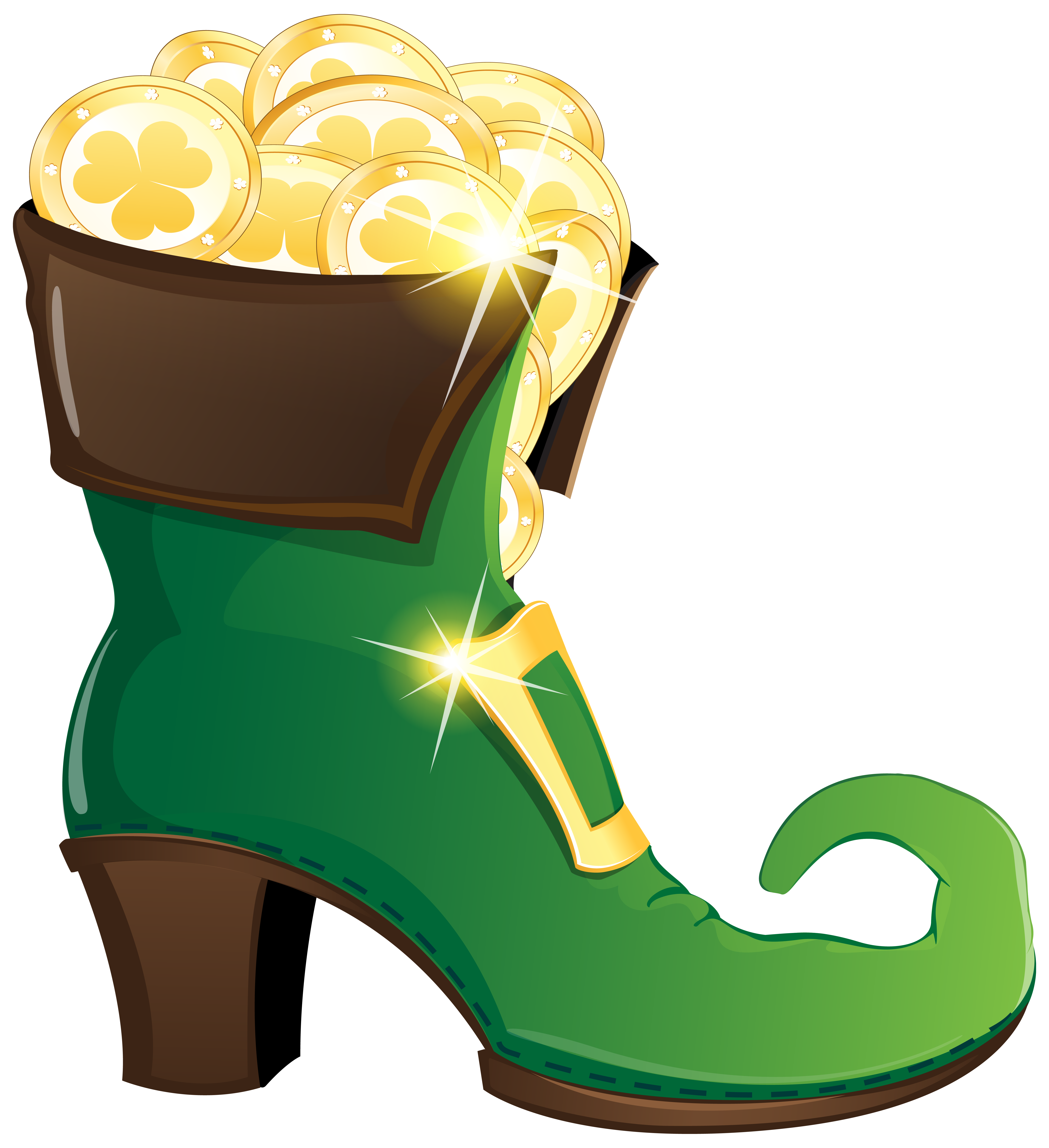 clip royalty free Coin pencil and in. Leprechaun shoes clipart.