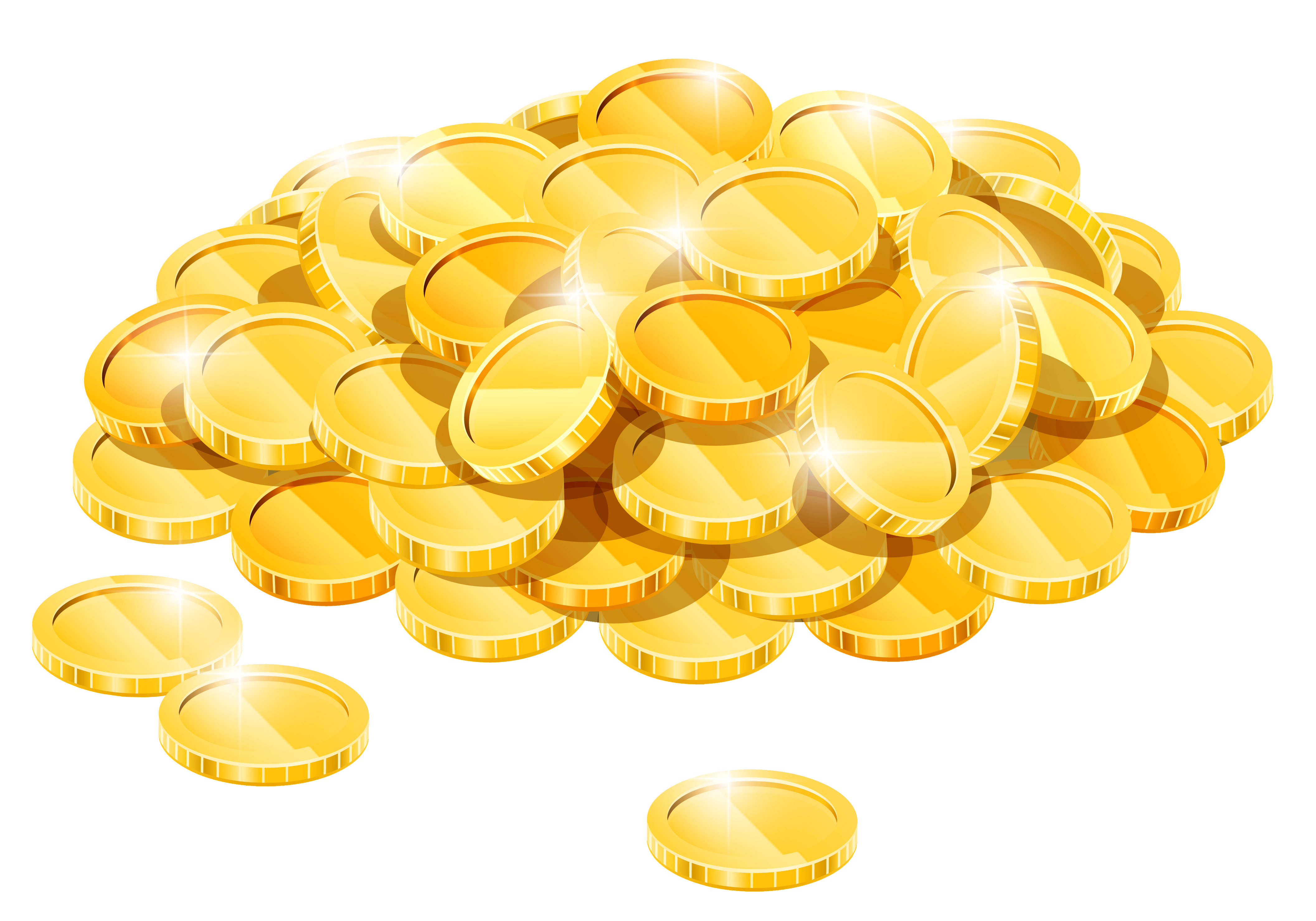 picture royalty free stock Golden clipart gold pile. Coins png gallery yopriceville
