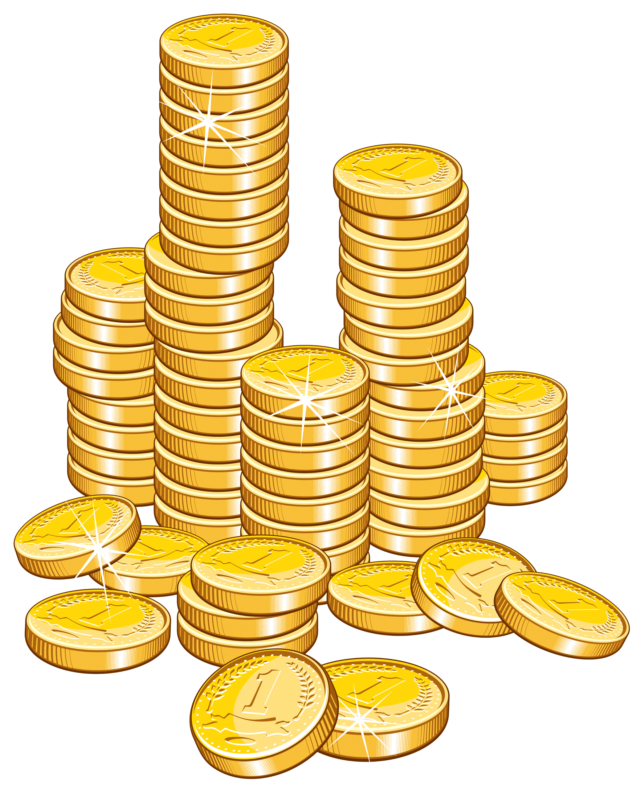 clipart library stock Stacks of . Coins clipart