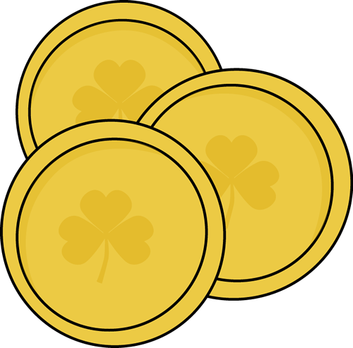 svg black and white download Coins clipart. Gold saint patrick s