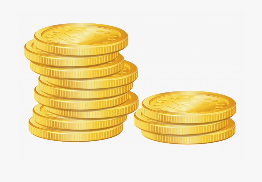 png library download Coins clipart. Unique stack of gold