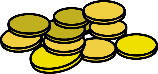 jpg library download Coins clipart. Gold clip art at.
