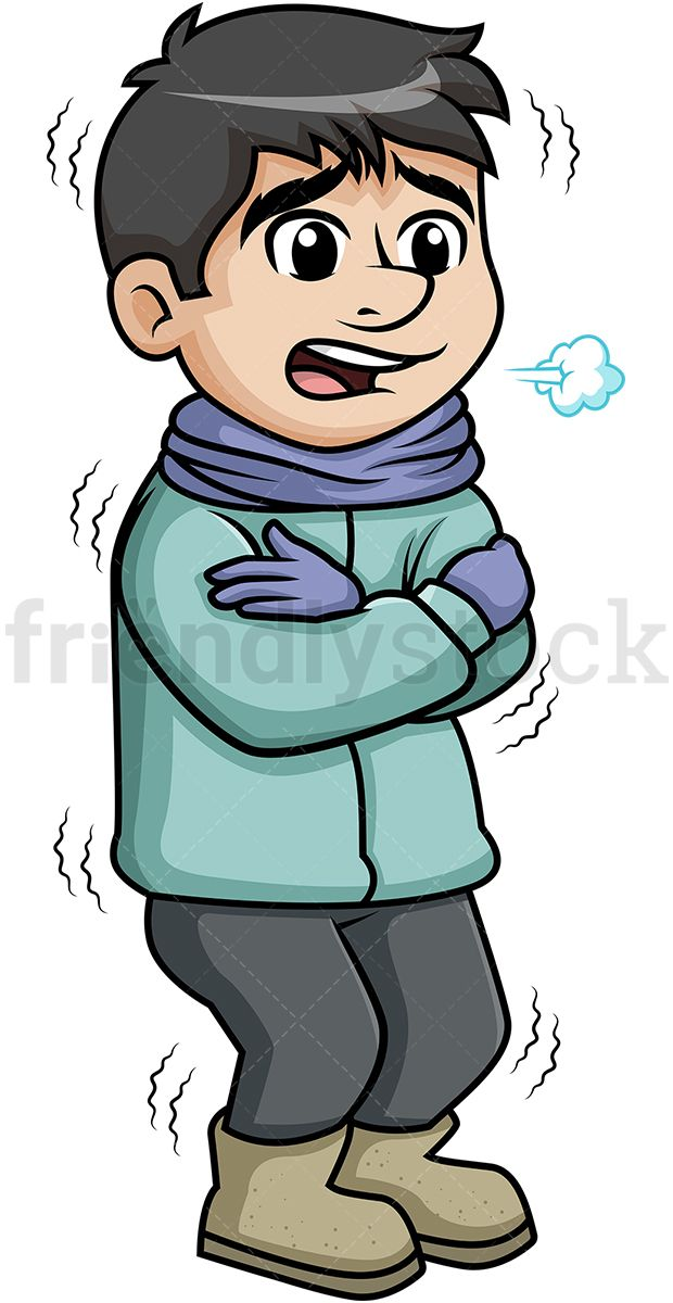 image royalty free stock Cold clipart. Man shivering from the