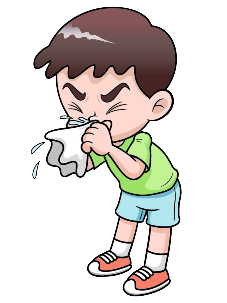 clip art transparent stock Common cold royalty free. Cough clipart sick boy