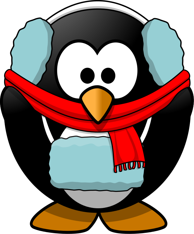 vector freeuse library Penguin . Cold clipart