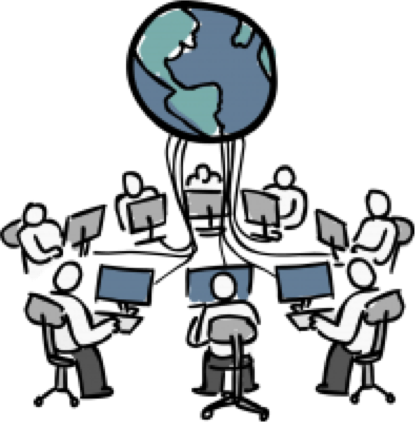 image library library Collaboration clipart norming. For distributed agile teams