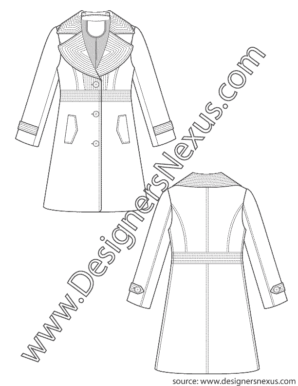 svg library Trench Coat V