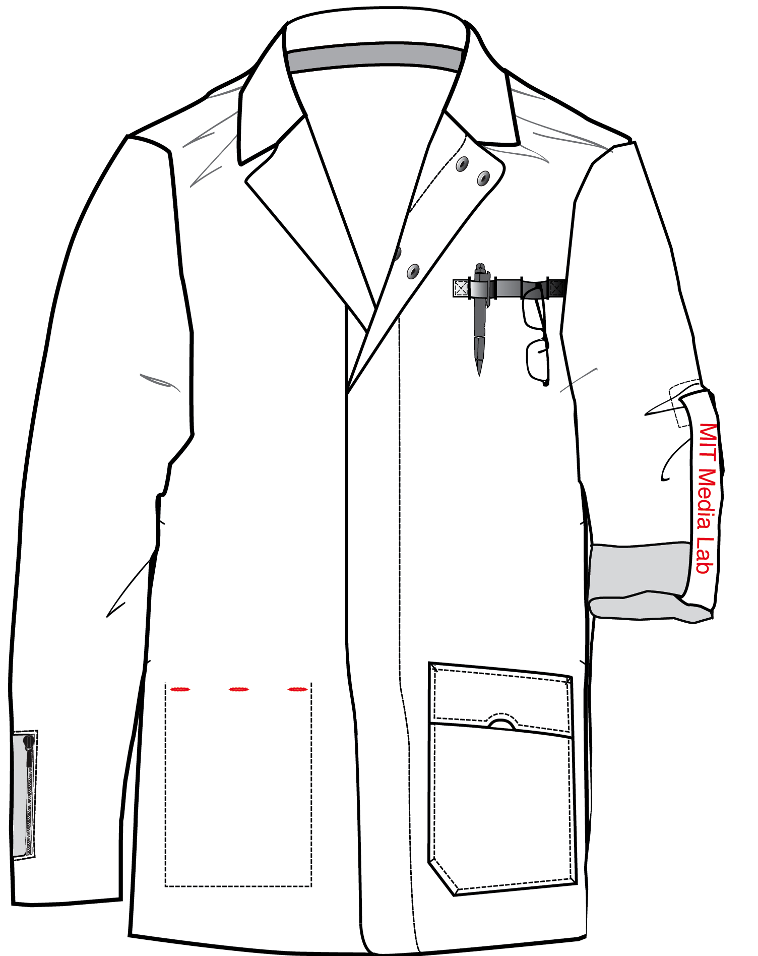 clip art royalty free stock drawing leather trench coat #111963566
