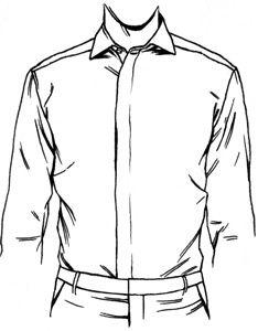 freeuse Dress shirt front placket. Drawing shirts jacket